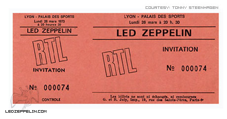 Led zep lyon ticket