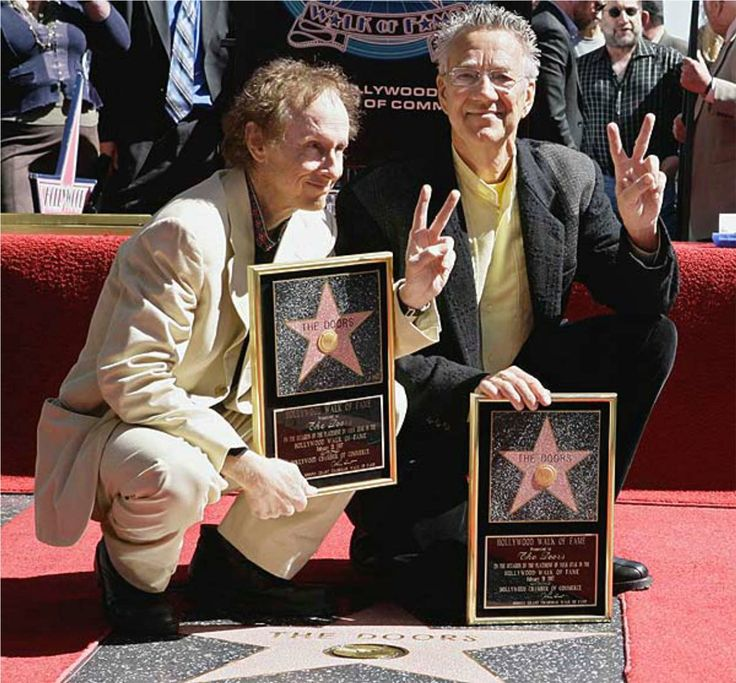 Manzarek kreiger hollywood walk of fame