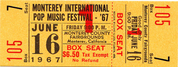 Monterey ticket entree