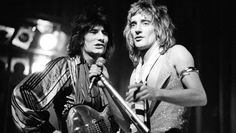 Rod stewart 3 faces ron wood