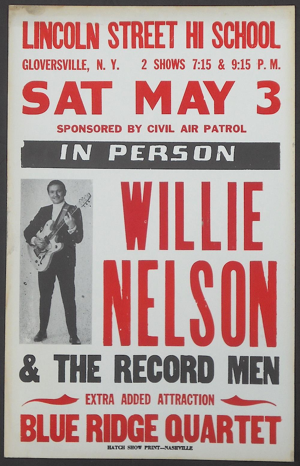 Willie nelson affiche the record men 1969