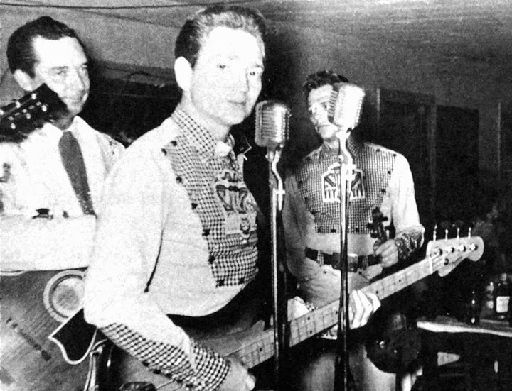 Willie nelson bass player with ray price s cherokee cowboys